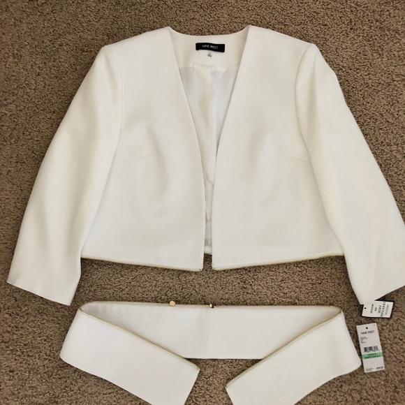 Nine West convertible white jacket.$45.00